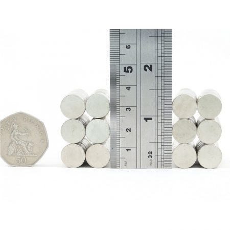 12mm x 2mm neodymium magnets comparison to 50p
