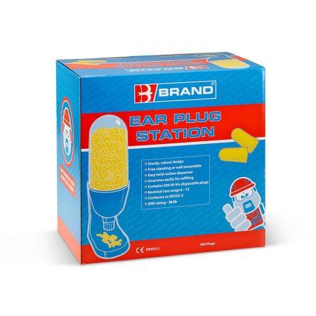 ear plug dispenser in packaging