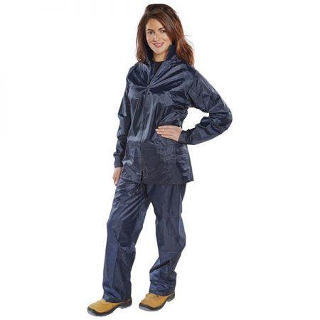navy waterproof nylon suit