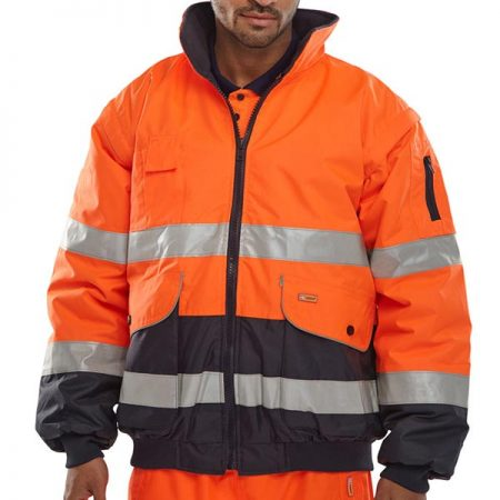 orange and navy hi vis jacket