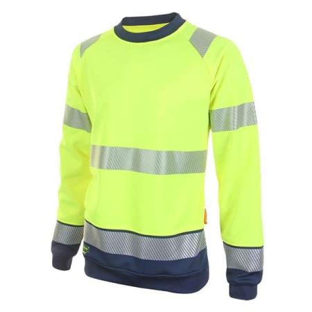 hi vis sweatshirt yellow and navy