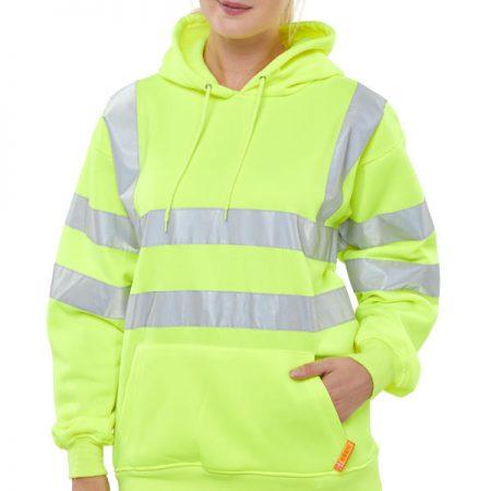 hi vis yellow hoodie
