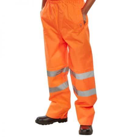 hi vis orange over trousers