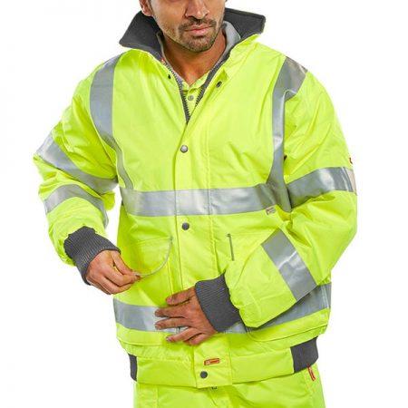 hi vis yellow bomber jacket