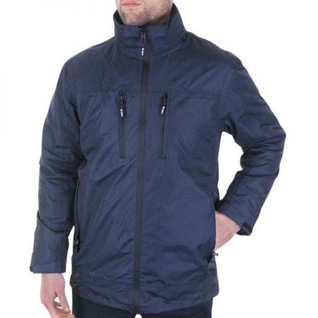 B-Dri mowbray zip-front jacket in navy