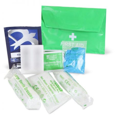 click medical one person first aid kit pvc pouch