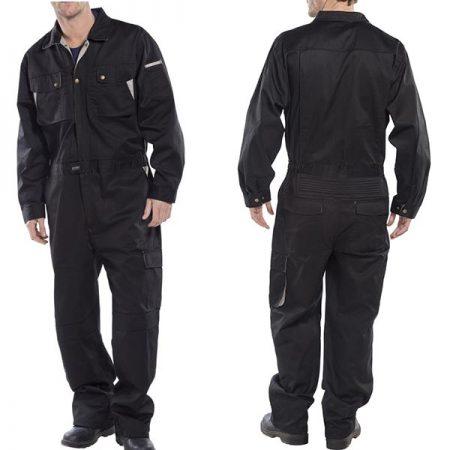 click premium boilersuit in black