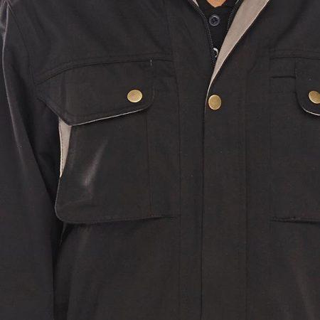 click premium boilersuit in black closeup on zip