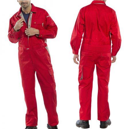 click premium boilersuit in red