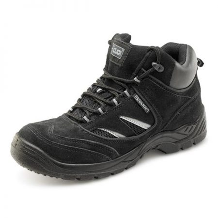 click gravity trainer boot in black suede effect