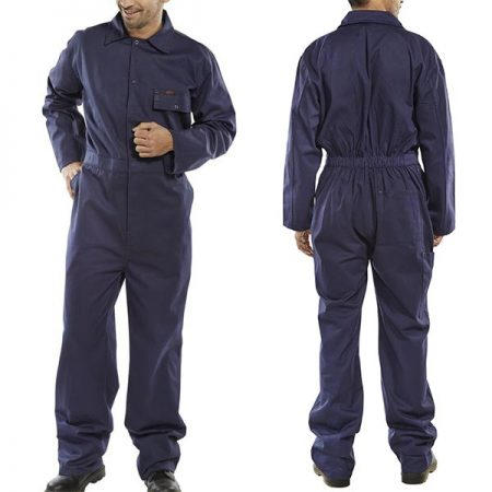 click workwear cotton drill boilersuit in navy