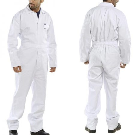click workwear cotton drill boilersuit in white