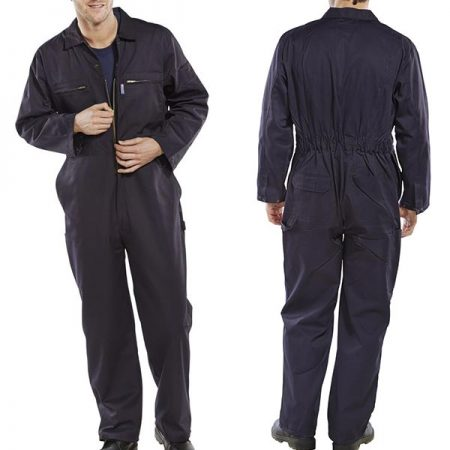 click workwear heavy duty boiler suit in navy
