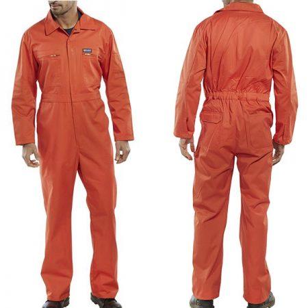 click workwear heavy duty boiler suit in orange