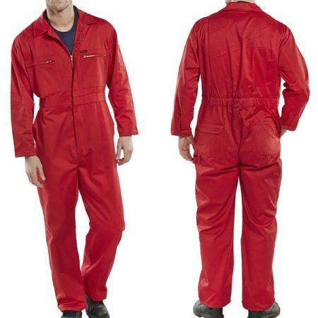 click workwear heavy duty boiler suit in red