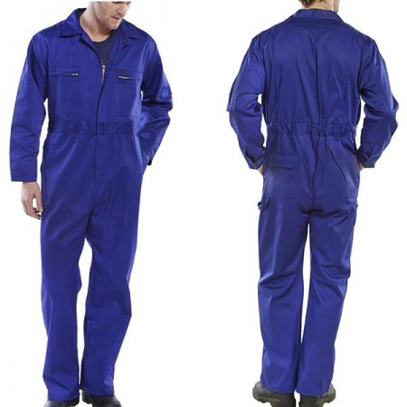 click workwear heavy duty boiler suit in royal blue