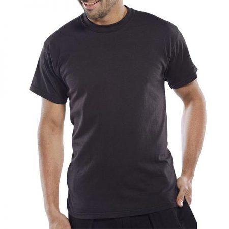 click workwear heavyweight tshirt in black