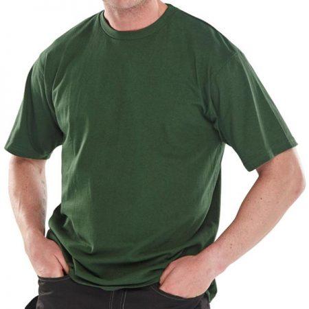click workwear heavyweight tshirt in green