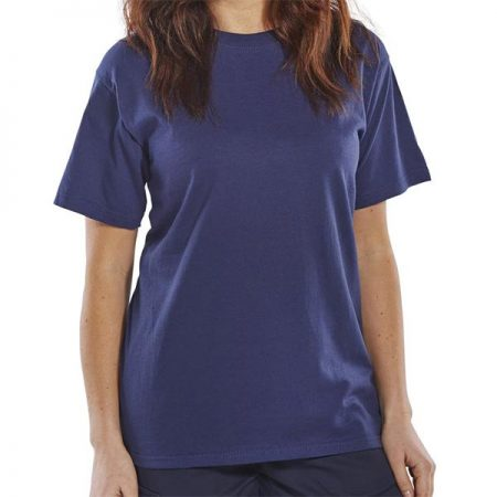 click workwear heavyweight tshirt in navy