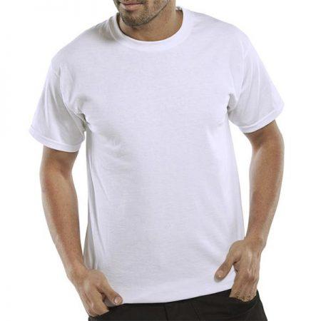 click workwear heavyweight tshirt in white
