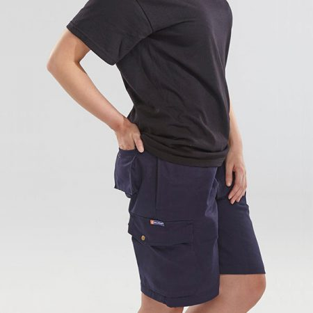 click workwear shorts in navy