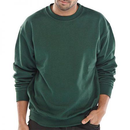 click workwear polycotton sweatshirt in green
