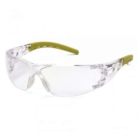 pyramex fyxate glasses with clear anti fog lens