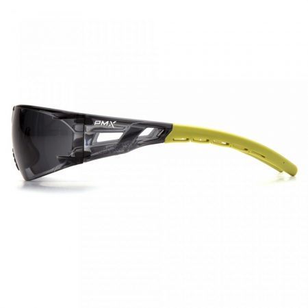 pyramex fyxate glasses with grey anti fog lens side view