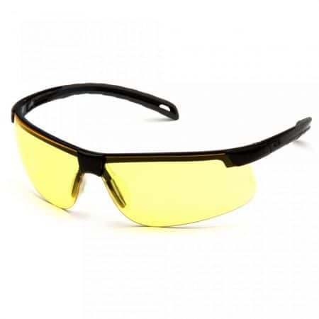 pyramex ever-lite lightweight sports style safety glasses with amber anti fog lens front view