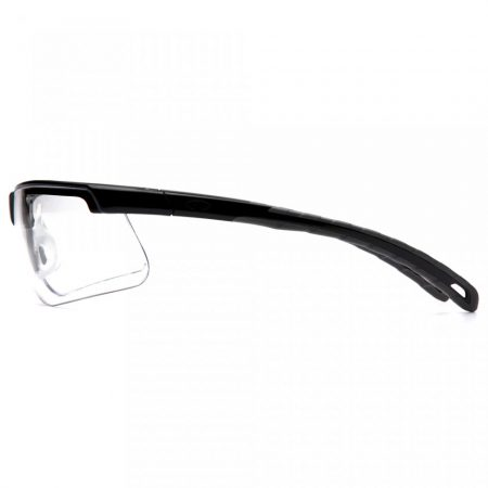 pyramex ever-lite lightweight sports style safety glasses with clear anti fog lens side view
