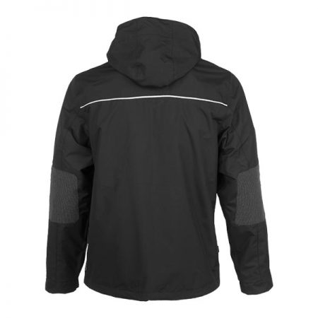 herock aspen hooded black jacket