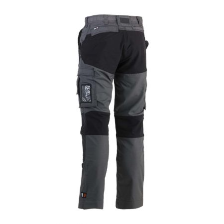 herock hector work trousers in grey and black reverse