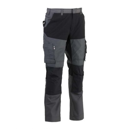 herock hector work trousers in grey and black