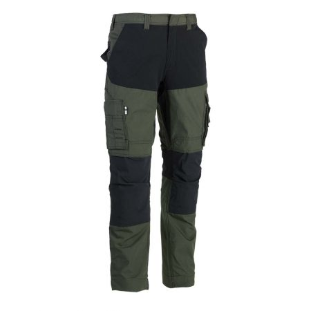 herock hector work trousers in khaki and black