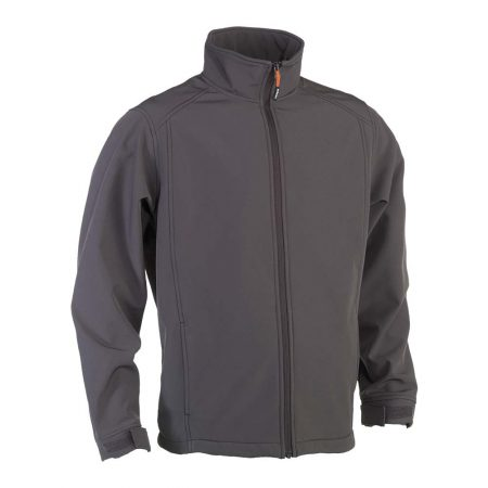 herock julius softshell zip-up grey jacket
