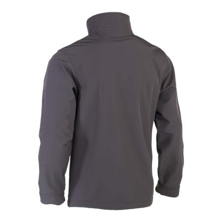 herock julius softshell zip-up grey jacket reverse