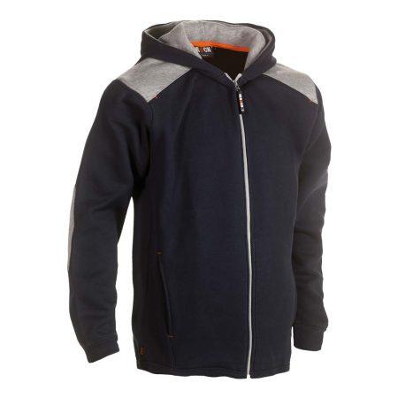 herock juno zip-front hoodie in navy