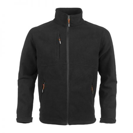 herock markus fleece jacket in black