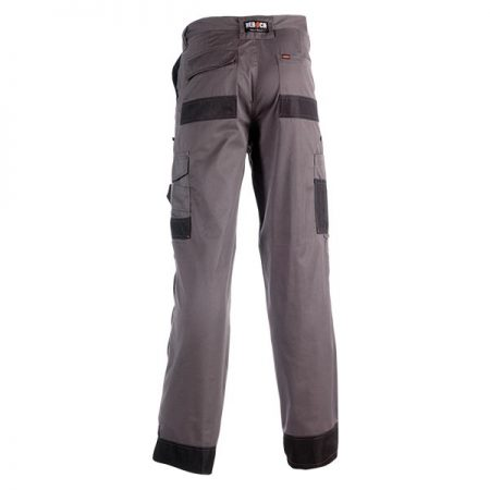 herock mars work trousers in grey and black reverse