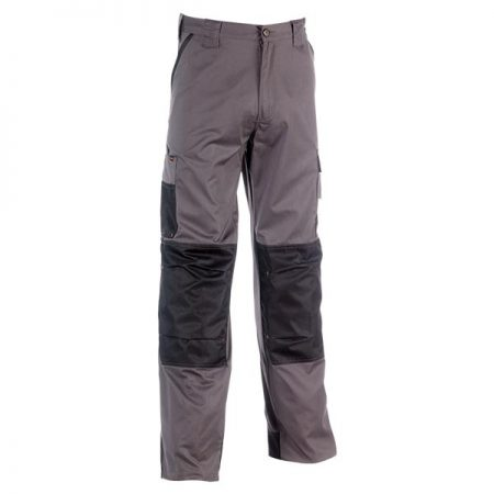 herock mars work trousers in grey and black