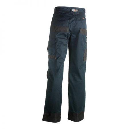 herock mars work trousers in navy and black reverse