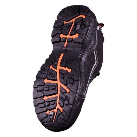 herock metron safety shoes black and orange sole