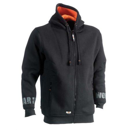 herock odsseus fleece lined hoodie in navy reverse
