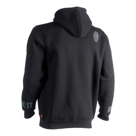 herock odsseus hoodie in black reverse