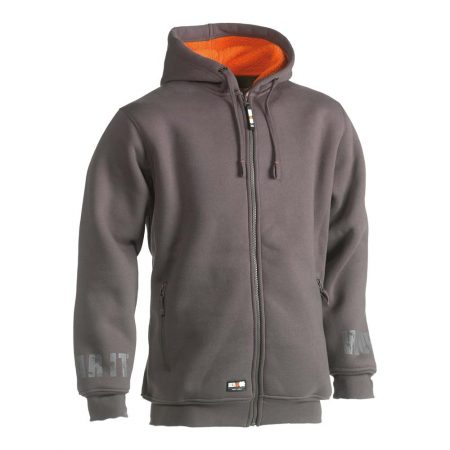 herock odsseus fleece lined hoodie in grey