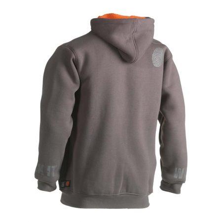 herock odsseus hoodie in grey reverse