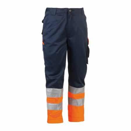 herock olympus navy and yellow hi vis trousers reverse