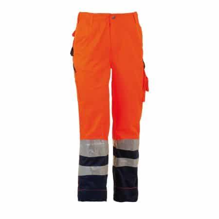 herock olympus orangeand navy hi vis trousers