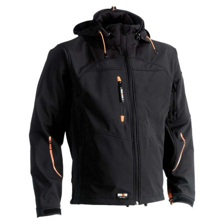 herock poseidon softshell zip-front jacket in black
