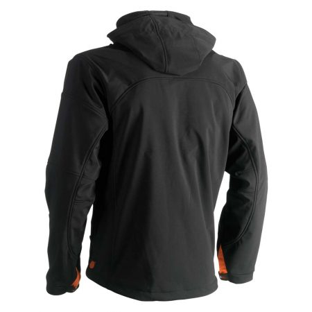 herock poseidon softshell zip-front jacket in black reverse